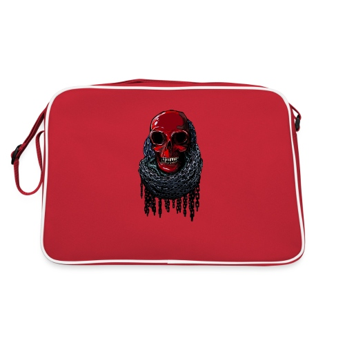 RED Skull in Chains - Retro Bag