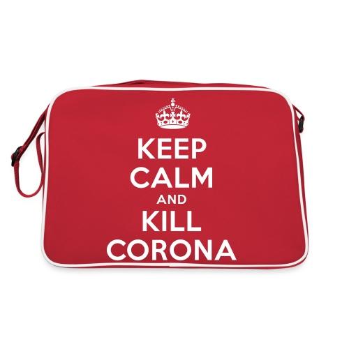 KEEP CALM and KILL CORONA - Retro Tasche