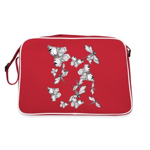 Libelle und Schmetterling - Glaube und Wahrheit - Retro Tasche