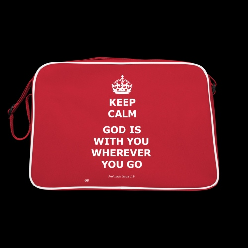 Keep Calm God is with you wherever you go - Retro Tasche