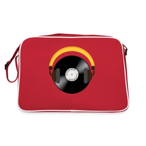Retro Vinyl Record with headphone!. - Retro taske