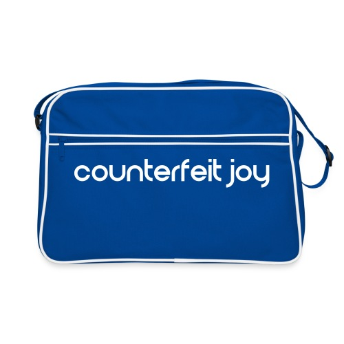 Counterfeit Joy text logo - Retro Bag