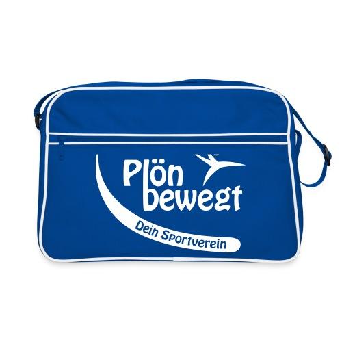 Plön bewegt - Logo weiss - Retro Tasche
