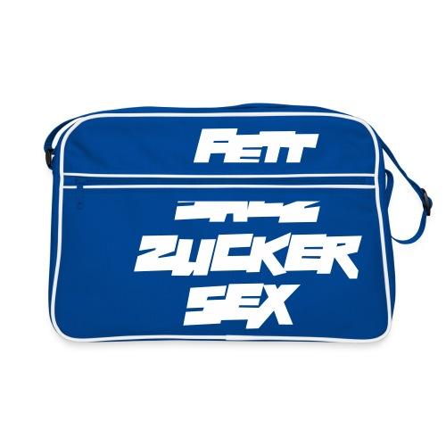 fett_salz_zucker_sex - Retro Tasche