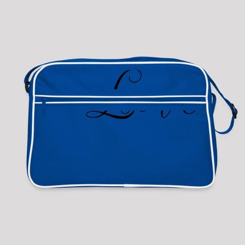 Love - Schiftzug - Retro Tasche