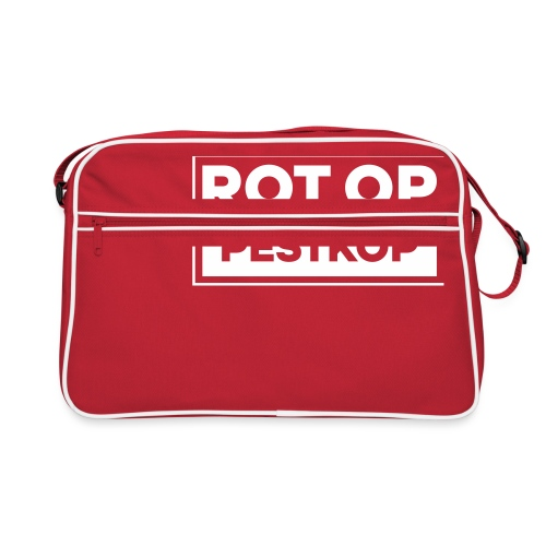 Rot Op Pestkop - Block White - Retro-tas