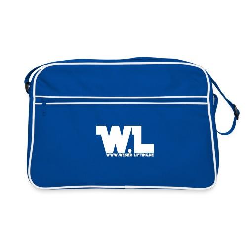 WL - vorn - weis - Retro Tasche