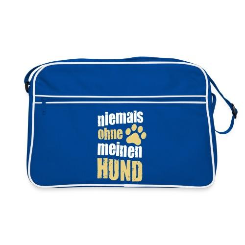 Vorschau: niemals ohne meinen hund - Retro Tasche