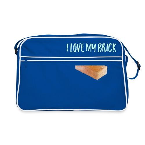 I love my brick - Retro Bag