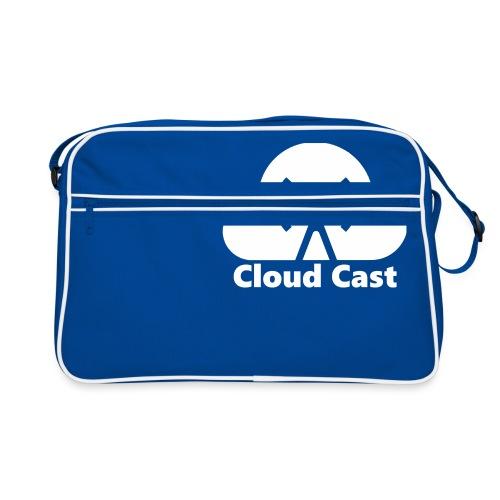 Cloud Cast White mit Schriftzug - Retro Tasche