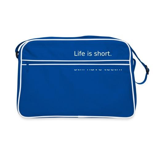 Das Leben ist kurz. Lächle. - Retro Tasche