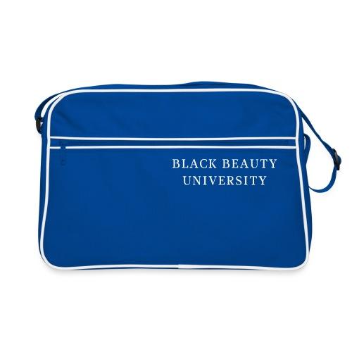 BLACK BEAUTY UNIVERSITY LOGO BLANC - Sac Retro