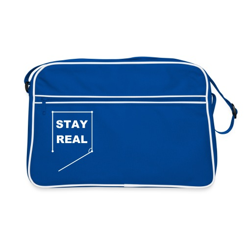 STAYREAL WHITE TRANS png - Retro Bag