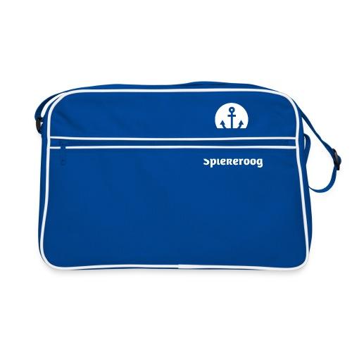 Wir sind Spiekeroog Logo weiss - Retro Tasche