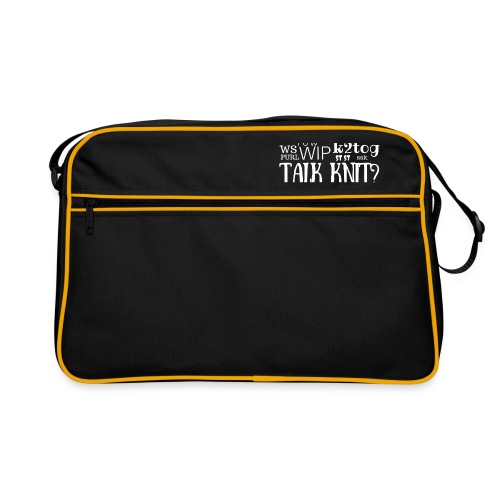 Talk Knit ?, white - Retro Bag