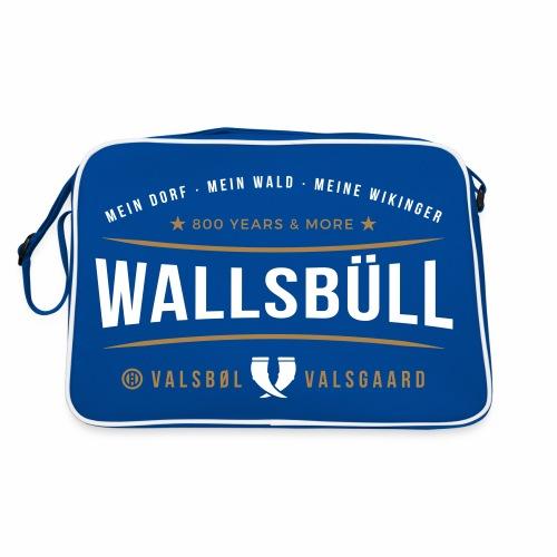Wallsbüll - mein Dorf, mein Wald, meine Wikinger - Retro Tasche