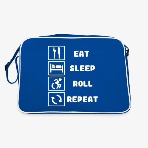 >Eten, slapen, rollen met rolstoel en herhalen 001 - Retro-tas