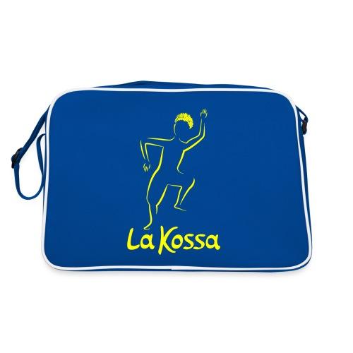La Kossa - Unser Herz tanzt bunt - Logo Gelb - Retro Tasche