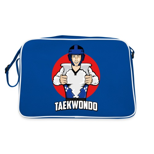 Nouveau Design Taekwondo Dessin Animé Cartoon - Sac Retro