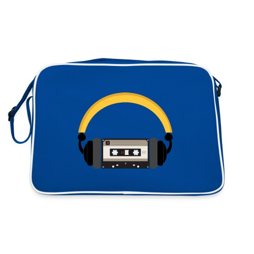 Retro cassette tape with headphone - Retro taske