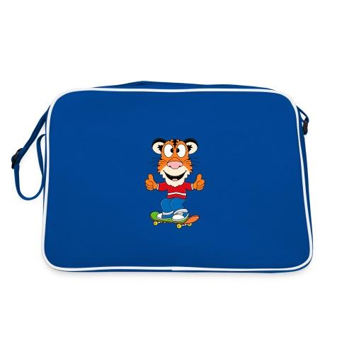 Lustiger Tiger - Skateboard - Sport - Kids - Baby - Retro Tasche