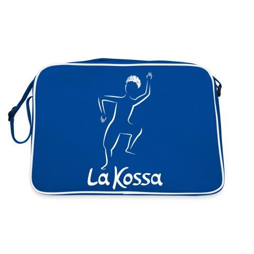 La Kossa - Unser Herz tanzt bunt - Logo weiß - Retro Tasche