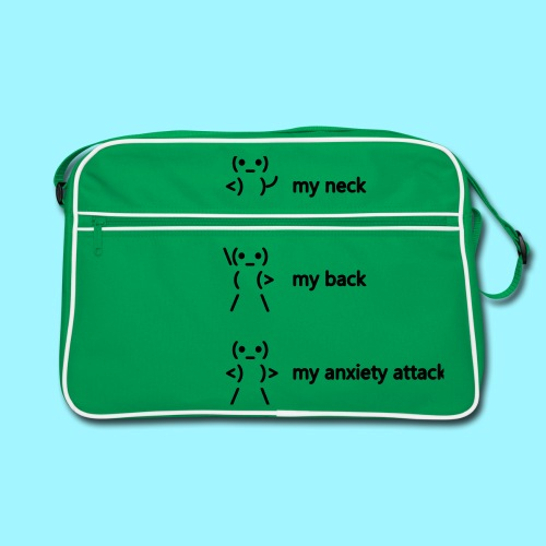 neck back anxiety attack - Retro Bag