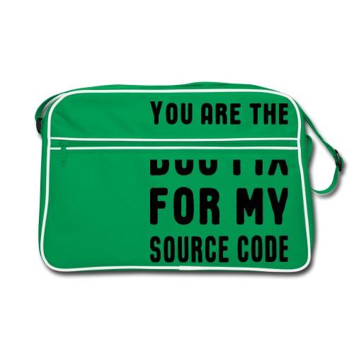 Programmierer Beziehung Liebe Source Code Spruch - Retro Tasche