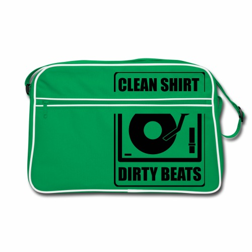 Clean Shirt Dirty Beats - Retro-tas