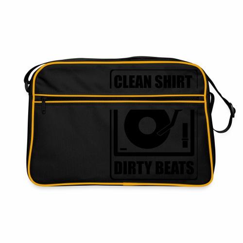 Clean Shirt Dirty Beats - Retro-tas