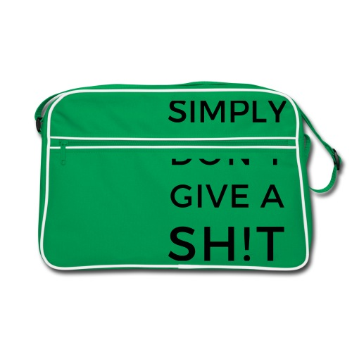 SIMPLY DON'T GIVE A SH!T - Borsa retrò
