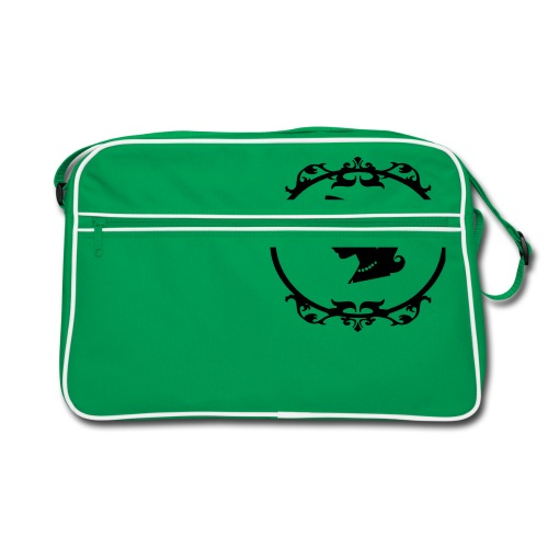 Mädel oval 1 farbig - Retro Tasche