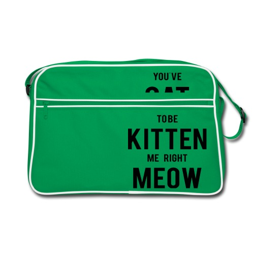CAT to be KITTEN me - Retro Tasche