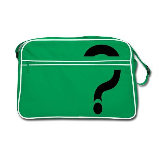 fragezeichen, wieso weshalb warum - Retro Tasche