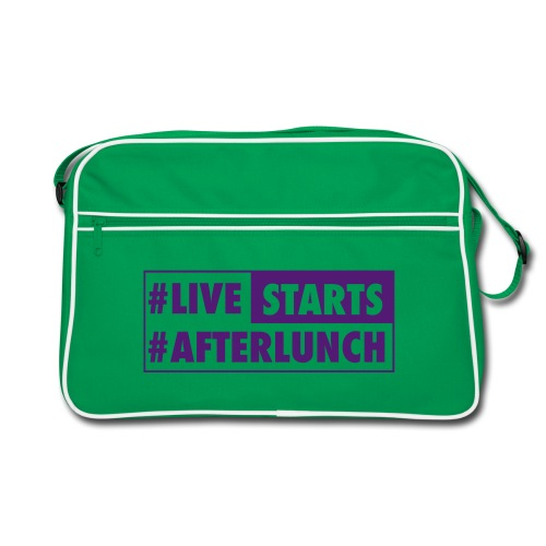 #LIVE STARTS #AFTERLUNCH - Retro Tasche