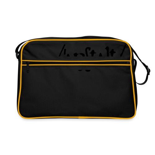 /'angstalt/ logo - Retro Tasche