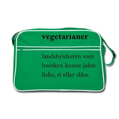 Vegetarianer definisjon - Retro veske