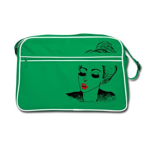 Vintage Retro Girl Kiss message - Retro Bag
