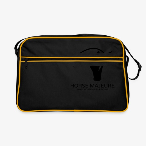 Horse Majeure Logo / Musta - Retrolaukku