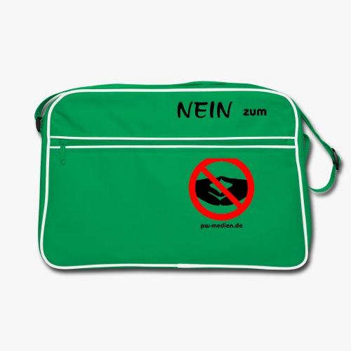 NEIN zum MERKELismus - Retro Tasche
