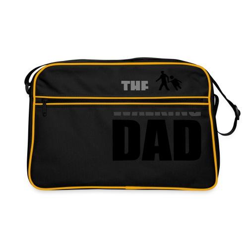 the walking dad auf dem Weg in die lustige Bar - Retro Tasche