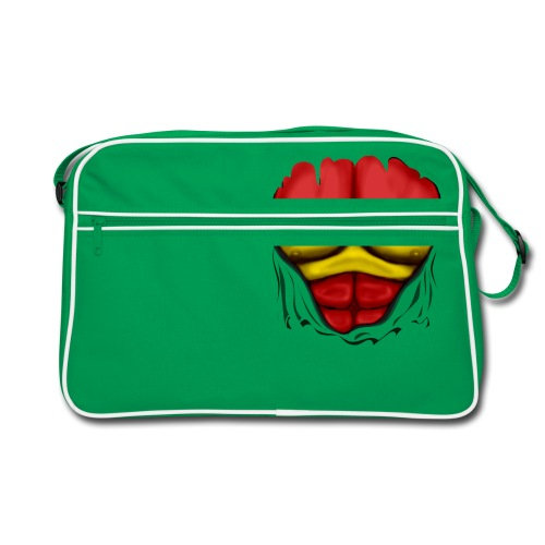 España Flag Ripped Muscles six pack chest t-shirt - Retro Bag