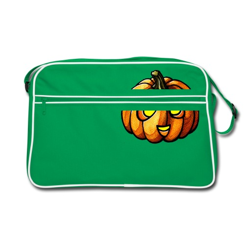 Pumpkin Halloween watercolor scribblesirii - Retro taske