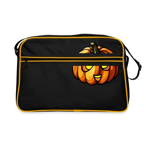 Pumpkin Halloween watercolor scribblesirii - Retro taske