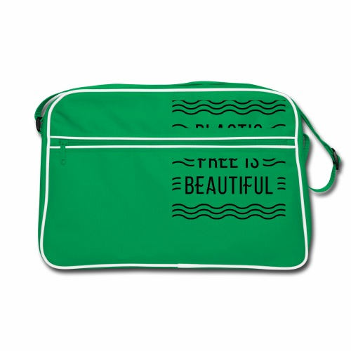 Plastic free is beautiful - Retro Tasche