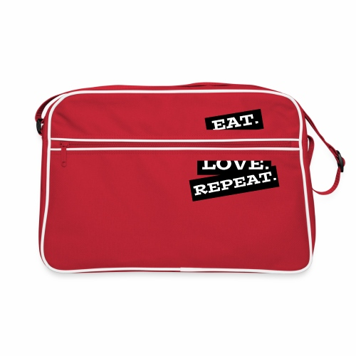 Eat. Sleep. Love. Repeat. - Retro Tasche