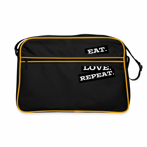 Eat. Sleep. Love. Repeat. - Retro Tasche