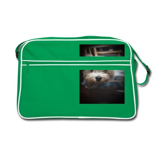 Pure White Pup - Retro Bag