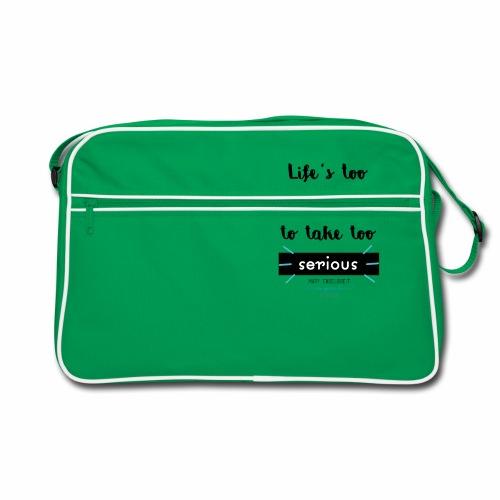 Mary Engelbreit`s Quote - Life`s too serious - Retro Bag
