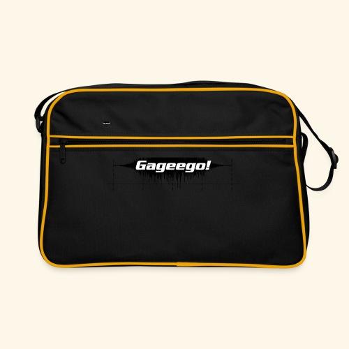 Gageego logga vit text - Retroväska